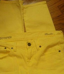 J.crew toothpick yellow jeans sz.26